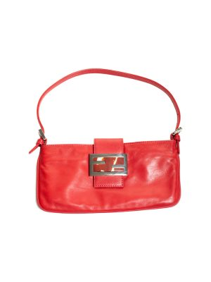 Red Leather Mamma Baguette Clutch Bag by Fendi - Le Dressing Monaco