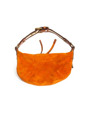Orange Monogram Suede Onatah PM Bag by Louis Vuitton - Le Dressing Monaco