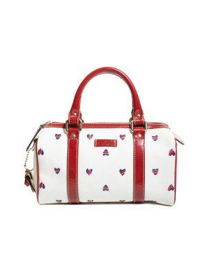 White GG Supreme Heart Small Joy Boston Bag by Gucci - Le Dressing Monaco