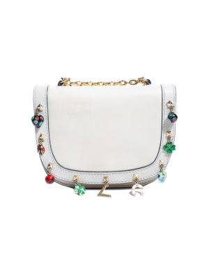 Ivory Lucky Rockstud Charm Leather Bag by Valentino - Le Dressing Monaco