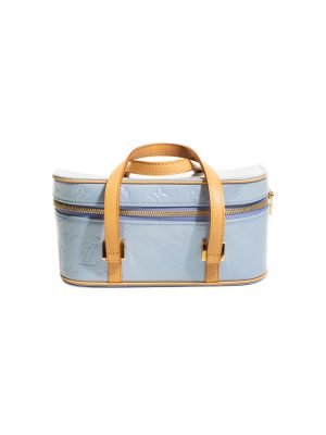 Blue Sullivan Horizontal Vernis Hand Bag by Louis Vuitton - Le Dressing Monaco