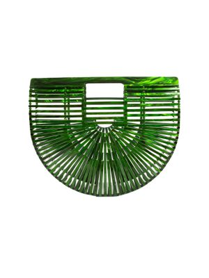 Green Malachite Acrylic Ark Handbag by CultGaia - Le Dressing Monaco