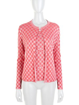 Pink Heart Checkered Twin Set by Akris - Le Dressing Monaco