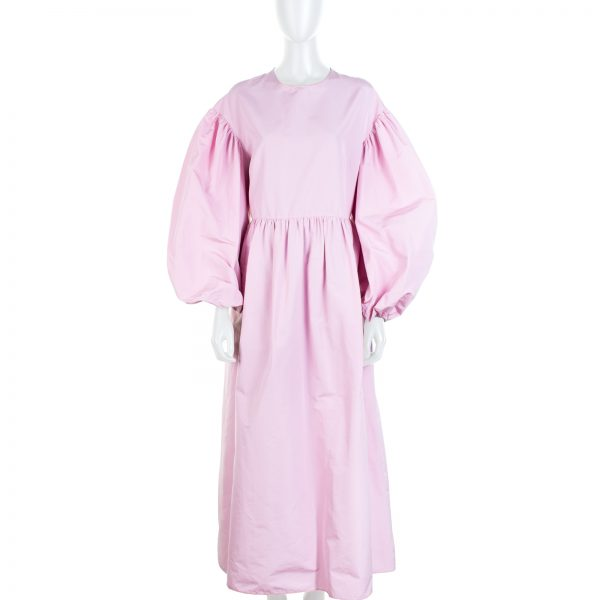 Pink Ballon Sleeved Maxi Dress by Valentino - Le Dressing Monaco