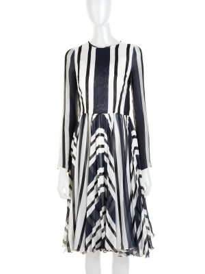 Stripped Silk Long Sleeved Dress by Dolce e Gabbana - Le Dressing Monaco