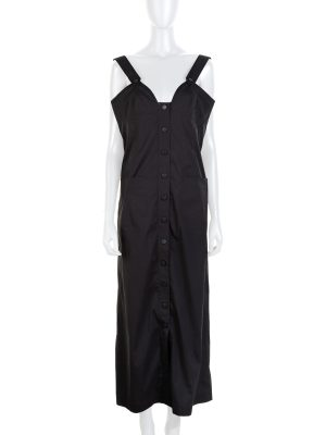 Black Strap Buttoned Dress by Chanel - Le Dressing Monaco