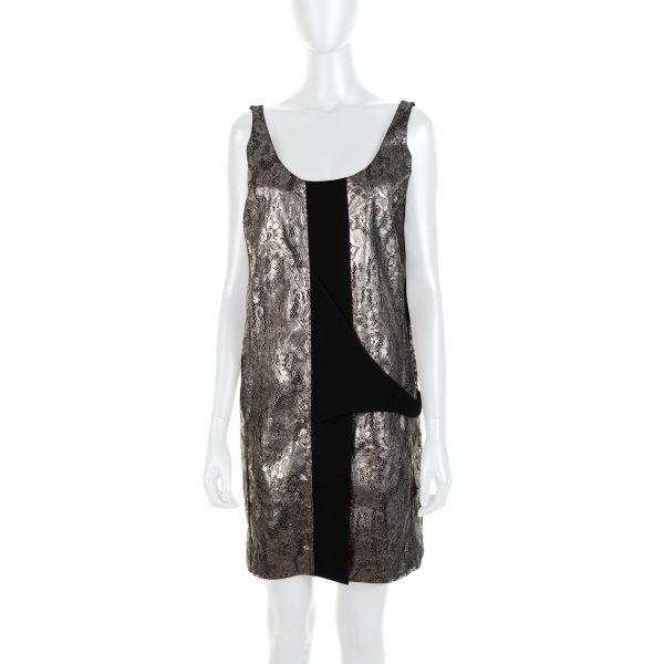 Black Silver Lace Embellished Dress by Valentino - Le Dressing Monaco