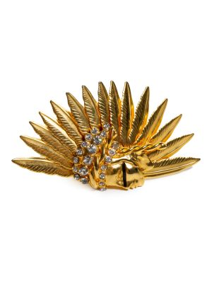 Gold Tone American Indian Crystal Ring by Gianni Versace - Le Dressing Monaco