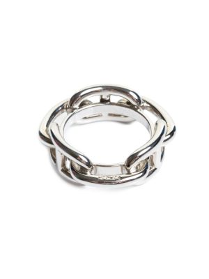 Silver Regate Scarf Ring by Hermès - Le Dressing Monaco
