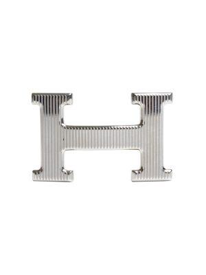 Silver Constance Calandre Belt Bucket by Hermès - Le Dressing Monaco