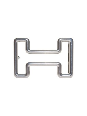 Shiny Silvered Belt Buckle Tonight by Hermès - Le Dressing Monaco