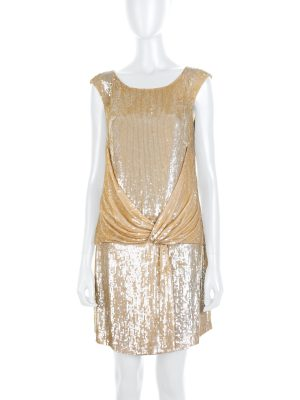 Gold All Over Sequin Embellished Dress by Valentino - Le Dressing Monaco