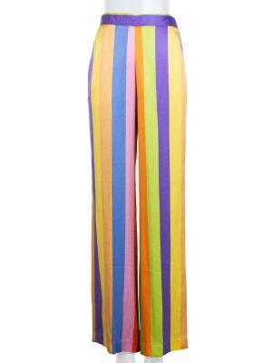 Striped Silk Twill Wide Leg Pants by Etro - Le Dressing Monaco