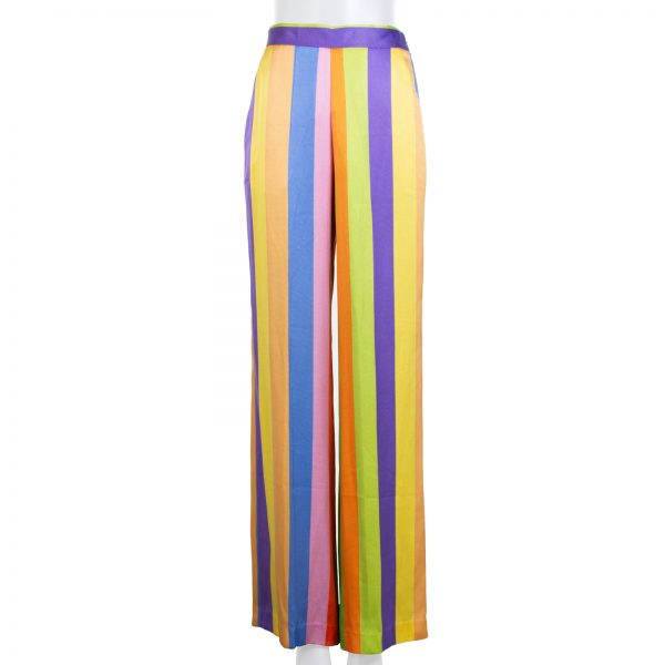 Striped Silk Twill Wide Leg Pants by Etro - Le Dressing Monaco