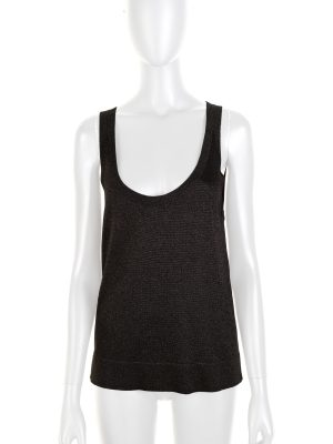 Black Lurex Knitted Tank Top by Missoni - Le Dressing Monaco