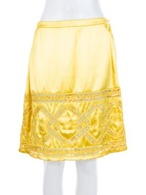 Yellow Sequins Embellished Skirt by Valentino - Le Dressing Monaco
