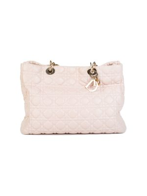 Pink Leather Cannage Soft Shopping Tote by Christian Dior - Le Dressing Monaco