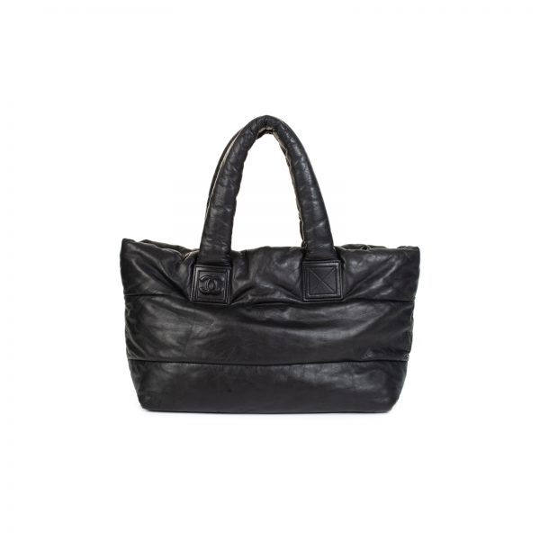 Black Coco Cocoon Reversible Shopping Tote Bag by Chanel - Le Dressing Monaco