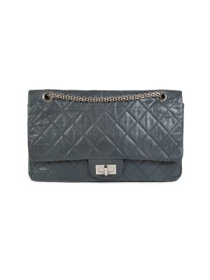 Grey 2.55 Reissue Quilted Leather Flap Bag by Chanel - Le Dressing Monaco