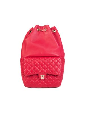 Red Quilted Leather Seoul Backpack by Chanel - Le Dressing Monaco