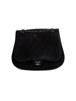 Coco Twin Black Nubuck Cross Body Flap Bag by Chanel - Le Dressing Monaco