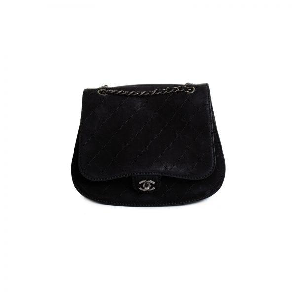 Coco Twin Black Nubuck Cross Body Flap Bag by Chanel - Le Dressing Monaco