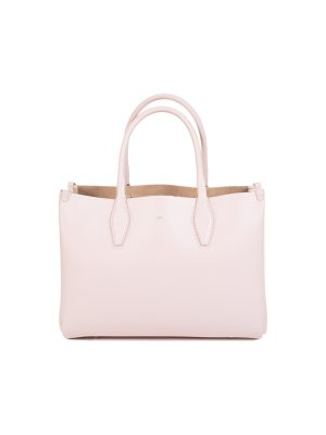 Light Pink Leather Journée Tote Bag by Lanvin - Le Dressing Monaco