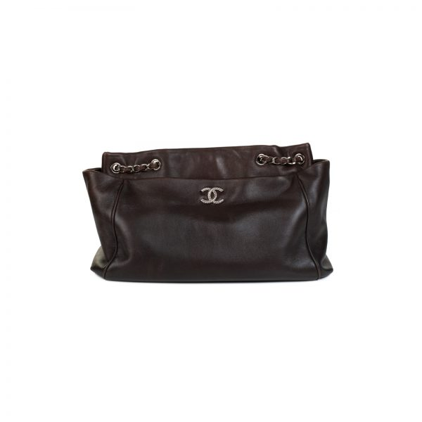 Brown Ultra Soft Leather Shopping CC Tote Bag by Chanel - Le Dressing Monaco