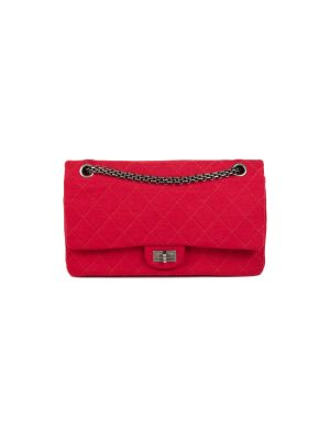 Red Jersey 2.55 Reissue Quilted Flap Bag by Chanel - Le Dressing Monaco