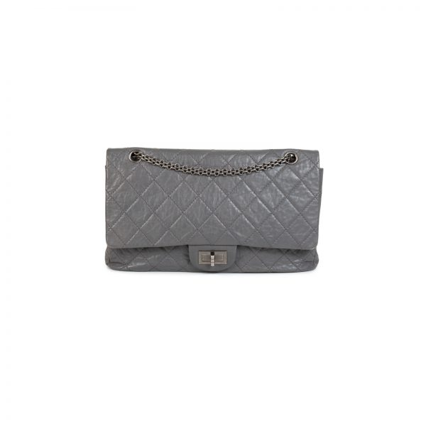 Grey Quilted Leather Reissue 2.55 Flap Bag by Chanel - Le Dressing Monaco