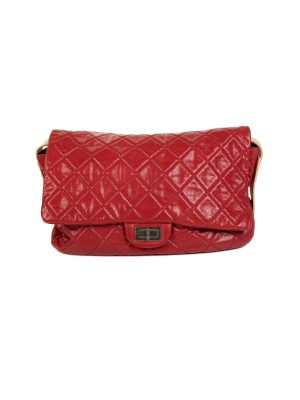 Brick Red Quilted Leather Shoulder Flap Bag by Chanel - Le Dressing Monaco
