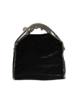 Black Faux-Leather Falabella Tote Bag by Stella Mc Cartney - Le Dressing Monaco