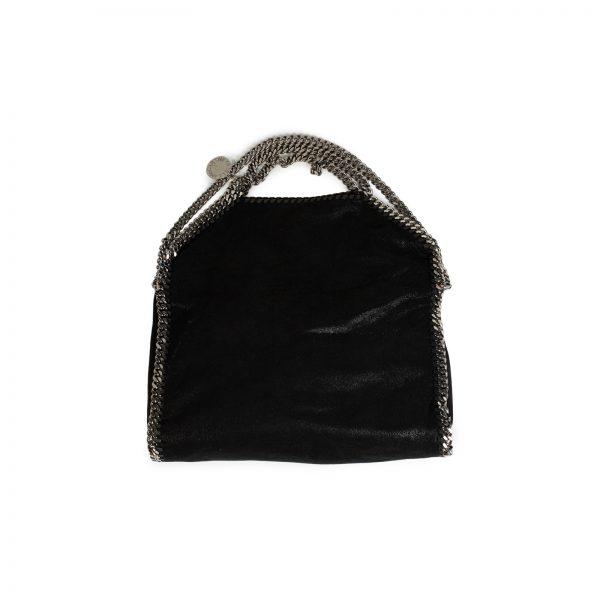 Black Faux-Leather Falabella Tote Bag by Stella Mc Cartney - Le Dressing Monaco
