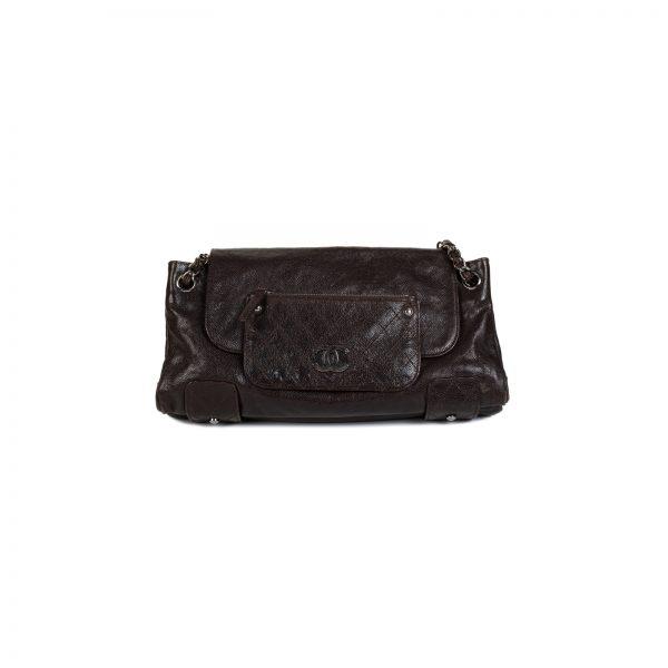 Glazed Caviar Pocket In The City Shoulder Bag by Chanel - Le Dressing Monaco