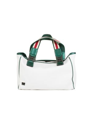 White Green Canvas Mini Shopping Tote by Gucci - Le Dressing Monaco