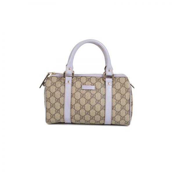 Beige GG Supreme Canvas Joy Boston Bag by Gucci - Le Dressing Monaco