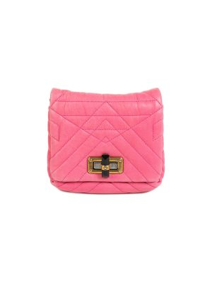 Fuchsia Leather Happy Pop Crossbody Bag by Lanvin - Le Dressing Monaco