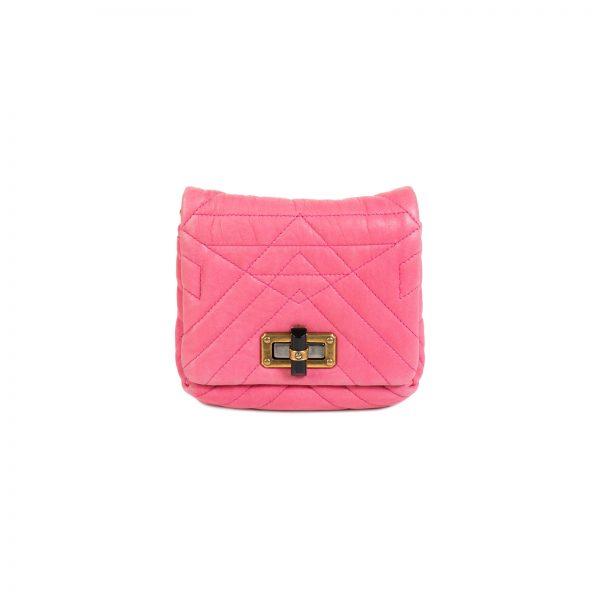 Fuchsia Leather Happy Pop Crossbody Bag by Lanvin - Le Dressing Monaco