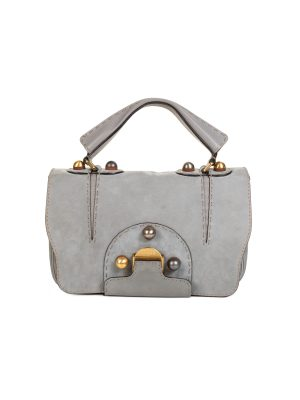 Grey Suede F3 Secret Code Shoulder Bag by Fendi - Le Dressing Monaco