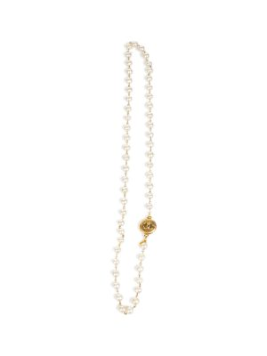 Single Strand Pearl Gold CC Charm Sautoir by Chanel - Le Dressing Monaco