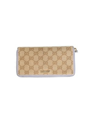 Beige GG Supreme Canvas Zip Around Wallet by Gucci - Le Dressing Monaco