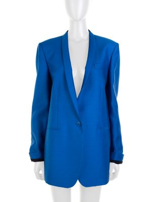 Blue Electric Eliot Wool Silk Blazer by Stella McCartney - Le Dressing Monaco