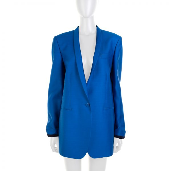 Blue Electric Eliot Wool Silk Blazer by Stella McCartney - Le Dressing Monaco
