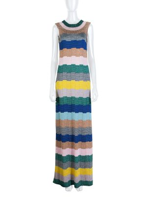 Multicolor Stripe Lurex Knitted Dress by Missoni - Le Dressing Monaco