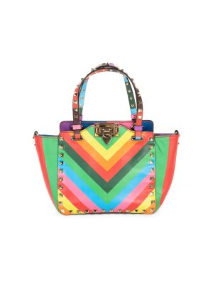 Rainbow Leather 1973 Rockstud Bag by Valentino Garavani - Le Dressing Monaco