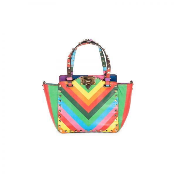 Rainbow Leather 1973 Rockstud Bag by Valentino Garavani - Le Dressing Monaco