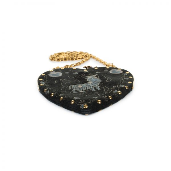 """Le Cœur de Dior"" Zodiac Velvet Purse Bag by Christian Dior - Le Dressing Monaco"