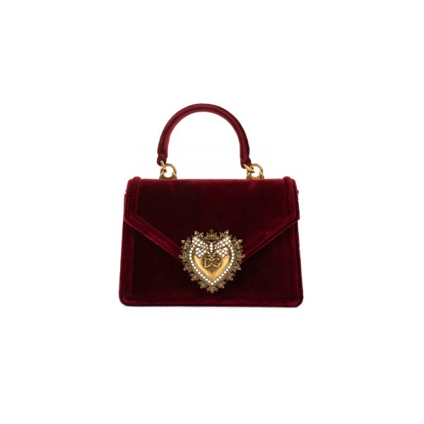 Velvet Devotion Jewel Heart Bag by Dolce e Gabbana - Le Dressing Monaco