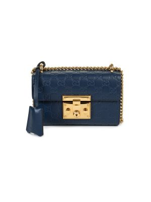 Guccissima Blue Leather Padlock Shoulder Bag by Gucci - Le Dressing Monaco
