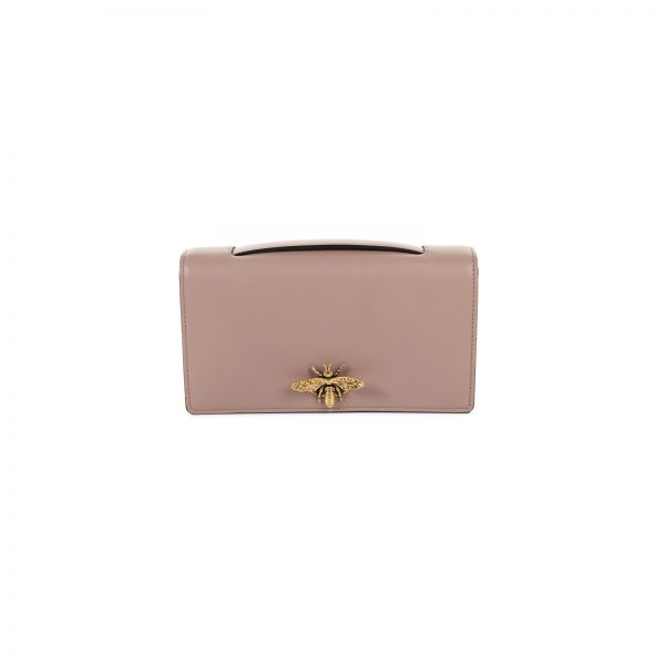 D-bee Pink Leather Clutch Bag by Christian Dior - Le Dressing Monaco